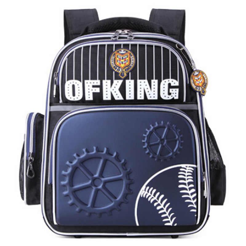 2018 новые школьные сумки для мальчиков, высокое качество, школьные сумки Mochila для начальной школы Mochila, защищают позвоночник и уменьшают нагрузку