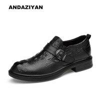 ANDAZIYAN men shoes business dress crocodile pattern foot shoes