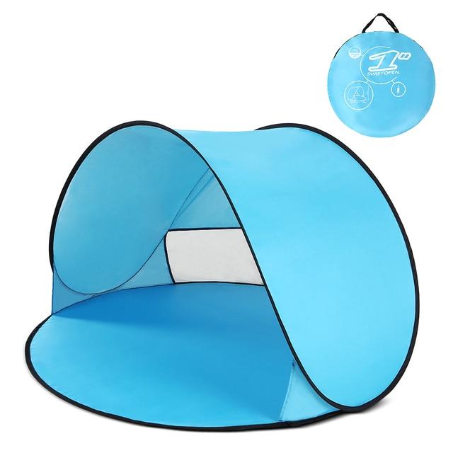 خيمة منبثقة فورية الطفل خيمة للشاطئ كابانا المحمولة المضادة للأشعة فوق البنفسجية الشمس المأوى للتخييم الصيد التنزه الخيام التخييم في الهواء الطلق