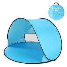Istantanea Pop Up Tenda Tenda Della Spiaggia Del Bambino Cabana Portatile Anti UV Ripari Per Il Sole Per Il campeggio Pesca Trekking Tende Da Campeggio Allaperto