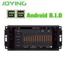 JOYING 4 Гб ОЗУ Android 8,1 автомобильный аудио HU стерео для JEEP WRANGLER радио gps система для Grand Cherokee головное устройство для Dodge Avenger