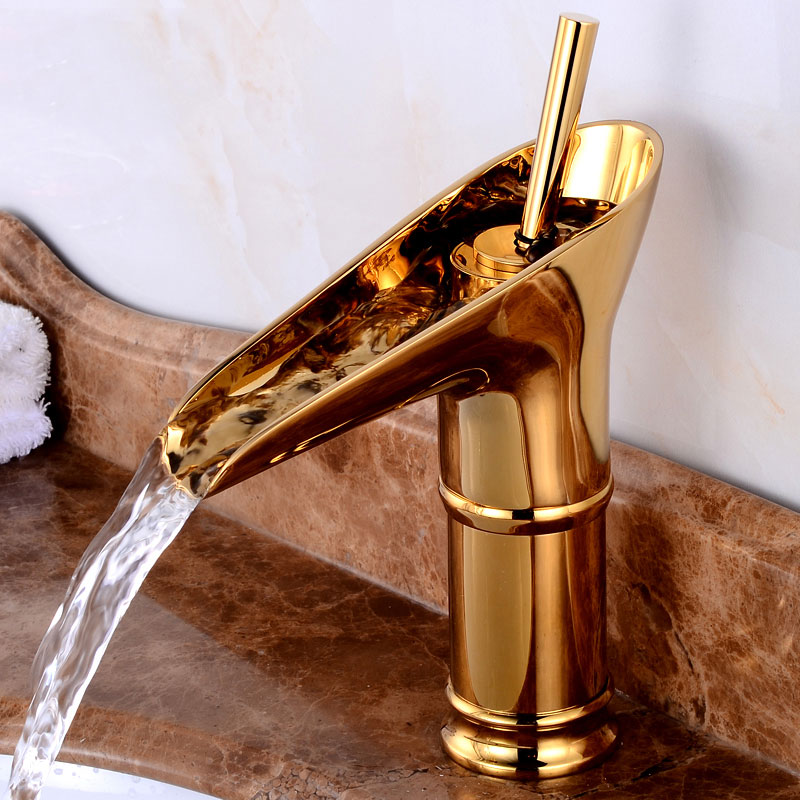European Retro bathroom sink basin Golden faucet retro Kitchen single hole basin faucet vintage Brass water tap hot and cold new arrival tall bathroom sink faucet mixer cold and hot kitchen tap single hole water tap kitchen faucet torneira cozinha