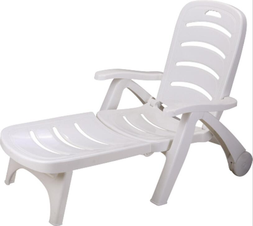 Thicken Pool Sun Lounger Portable Folding Deck Chair Outdoor Leisure Beach Chiar Garden Chair