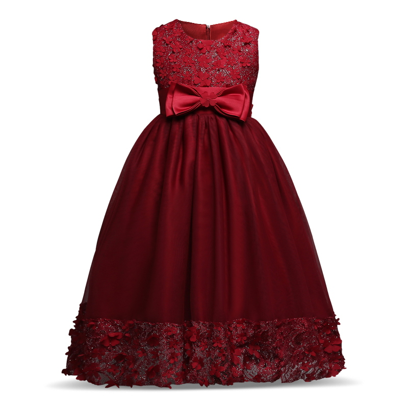 Kids Summer Girls Dress Children Prom Tulle Wedding Party Dresses for Princess Teenager Costumes Girl Clothes Vestidos 2017 girls princess dresses kids bridesmaids clothes long dress children red prom dress for party and wedding 4 5 6 7 8 9 10 yrs
