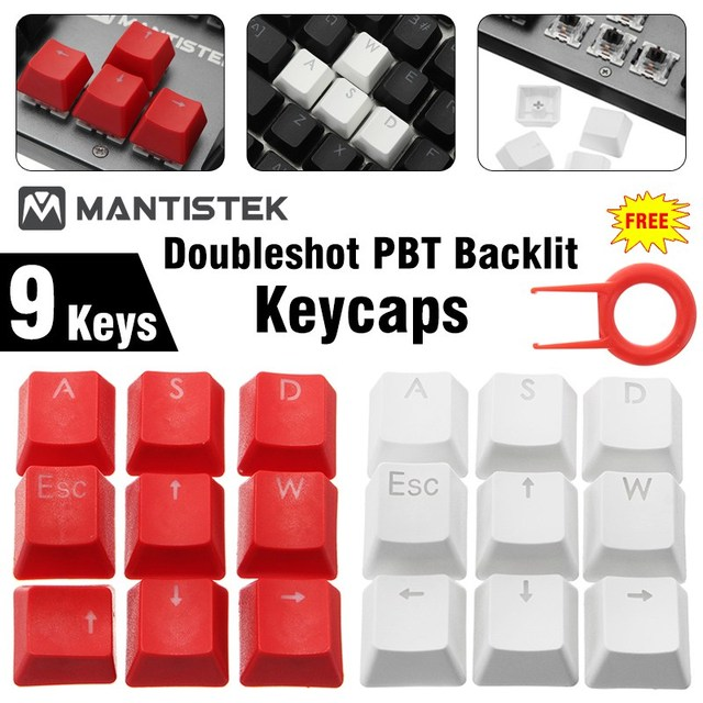 US $2 54 49% OFF|Universal DIY WASD Direction Keys Caps Double Color  Injection Molding PBT Keycaps Key Caps for Keyboard with Keycaps Puller-in