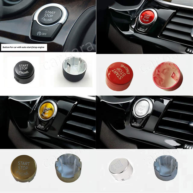 Cars That Start With B >> Us 17 0 Black Red Sliver Gold Color Engine Start Stop Switch Button For B Mw F Chassis Cars 1 2 3 5 7 Series X1 X3 X4 X5 X6 In Car Switches Relays