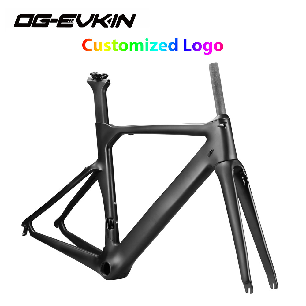NEW T800 Bicycle carbon road frame UD Di2 Customized RAW road carbon frame bike 45 48 50 52 54 56cm bike Frameset Black 2018 2018 t800 full carbon road frame ud bb86 road frameset glossy di2 mechanical carbon frame fork seatpost xs s m l og evkin