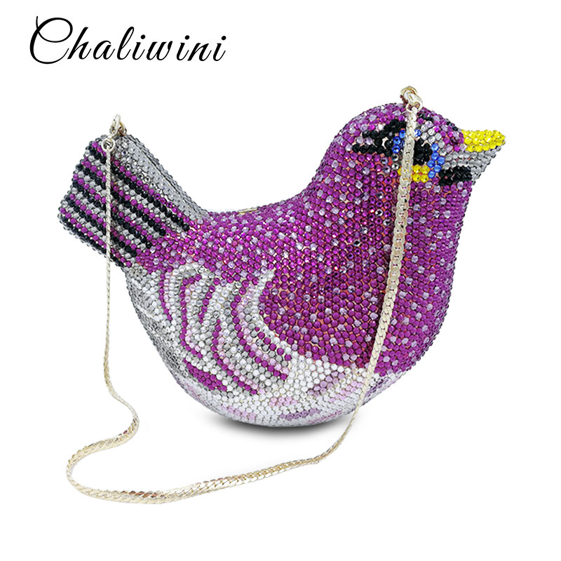 Модные «Птицы» Для женщин Роскошная обувь с украшением в виде кристаллов сумка Свадебный клатч кошелек вечерняя сумочка со стразами сумкиогофункциональная дорожная сумка клатч бледно лиловый вечерние сумки из натуральной кожи