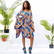 Shenbolen african dresses for women ankara wax Print lafrican clothes party dress Plus Size