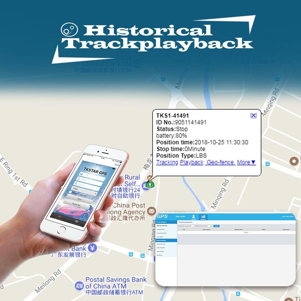 Traqueur de voiture GPS TKSTAR TK905 étanche 5000 MAH longue durée de vie du véhicule localisateur GPS pour moto de camion avec écoute vocale - 5