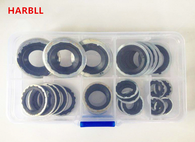 Прокладки для автомобильного компрессора кондиционера, 28 шт, R134a Набор для ремонта кондиционера в автомобиле,