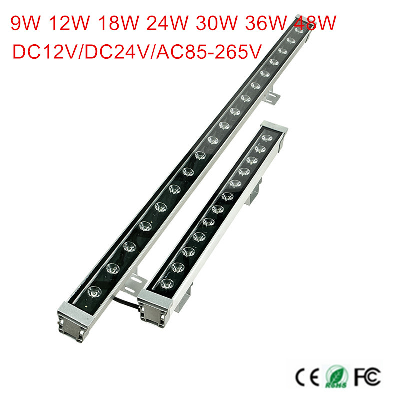 18W 24W 36W 48W waterproof IP65 12V 24V 85-265V led floodlight LED Wall washer lamp Landscape light Blue/Green/Red/Warm/Cold/RGB 18w 24w 30w 55 60 1000mm ip65 led wall washer light lamp outdoor waterproof landscape light linear bar lamp warmwhite white rgb
