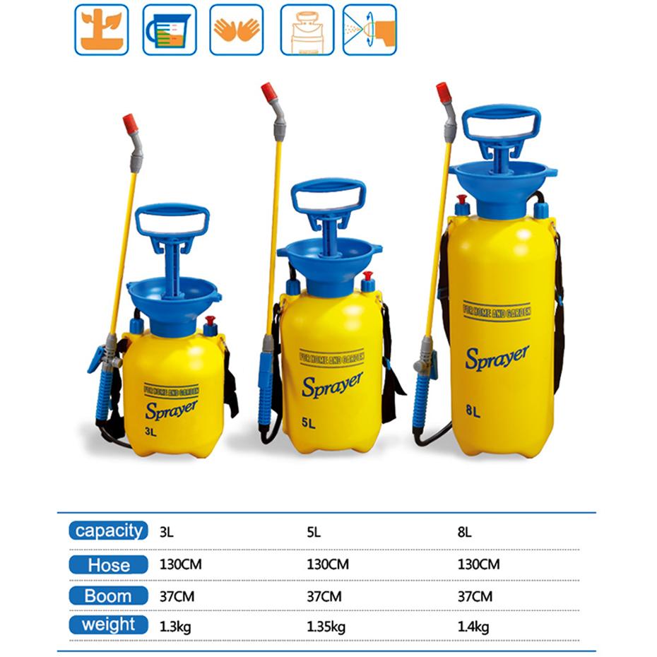 US $21 86 45% OFF 3/5/8L Pressure Sprayer Compressed Air Spray Garden  Sprayer Pump Hand Pressure Watering Spray Garden Irrigation Car Clean  2018-in