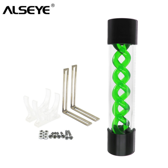 ALSEYE Water Cooler Tank DIY 255mm G1/4 T-virus Water Cooling Tank for Gaming PC (Red, Blue,Green Colors)