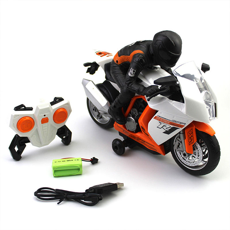 2.4Ghz Rc Motorcycle Stunt Drift Music Led Light Rc Motorbike Model Toys Remote Control Motor Toys For Children Gift