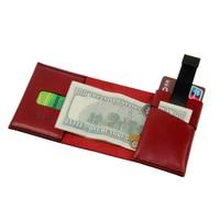 ZEEKER New Design Tri fold Leather Wallet Pull out Card Wallet Handmade Mini Leather Wallet
