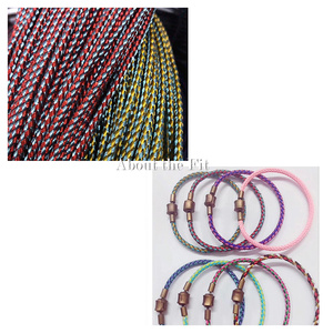 Image 5 - About the Fit 2/3mm 100M Braided Metal Wire Mesh Round Cords Jewelry Accessories Bands Woven Ropes Crafting Collar Making Lacing