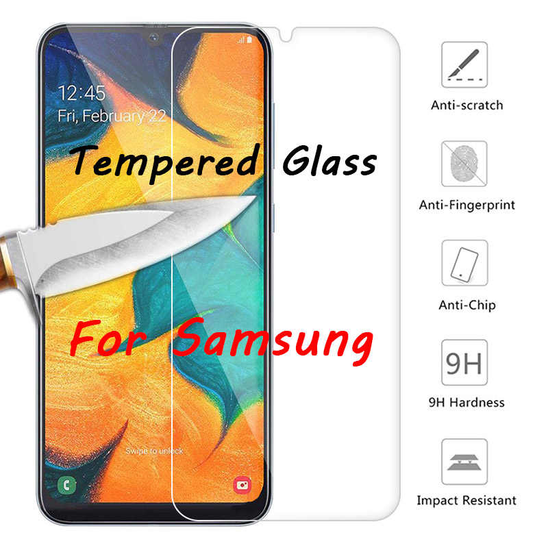 Protetor de tela para samsung galaxy a7 2018 note, 7 5 4 3, vidro temperado duro para samsung a9 2018 a6 vidro protetor a8 plus