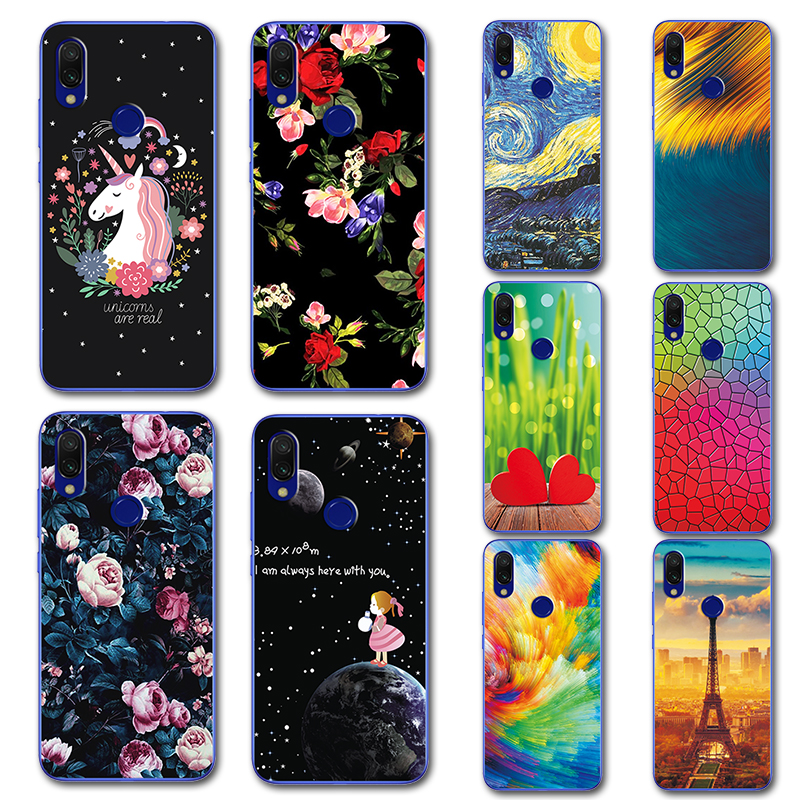 Cute Painted Covers Fundas On Redmi7 For Xiaomi Redmi 7 Silicone Case Novelty Phone Case Cover For Xaiomi Redmi 7 Redmi7 6.26 Cellphones & Telecommunications Phone Bags & Cases