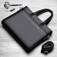 Laorentou Brand Genuine Leather Man Bag Business Bag Top Quality Cowhide Leather Men S Bag