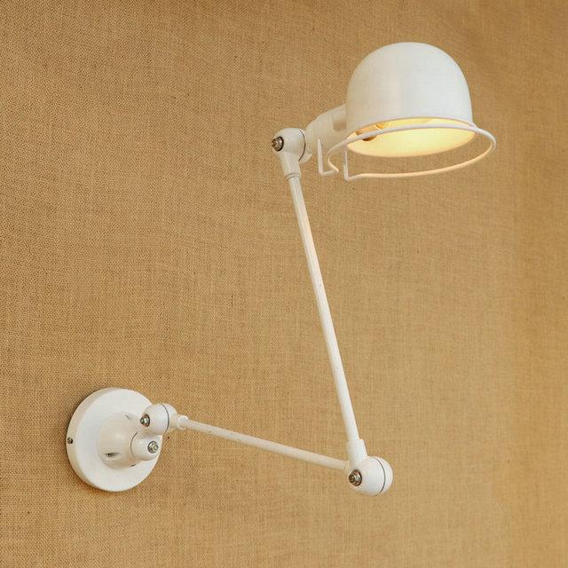 Jielde Lamp Vintage Zinc Alloy Metal Bar 2 Arms Lamp Loft Style Adjustable  Black/red