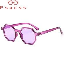 Psacss Hexagon Sunglasses Women Men Luxury Plastic Brand Designer Sun Glasses Women's Vintage Sunglass oculos de sol feminino стоимость