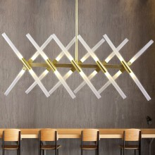 Minimalism Modern Led Pendant Lights For Dining Room Bar Kitchen Aluminum Acrylic Hanging Lamp Fixture Free Ship