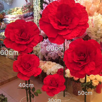 2017 Super Large Silk Flower Wedding Decoration Props Background Stereo Artificial Flower 30cm 40cm 50cm