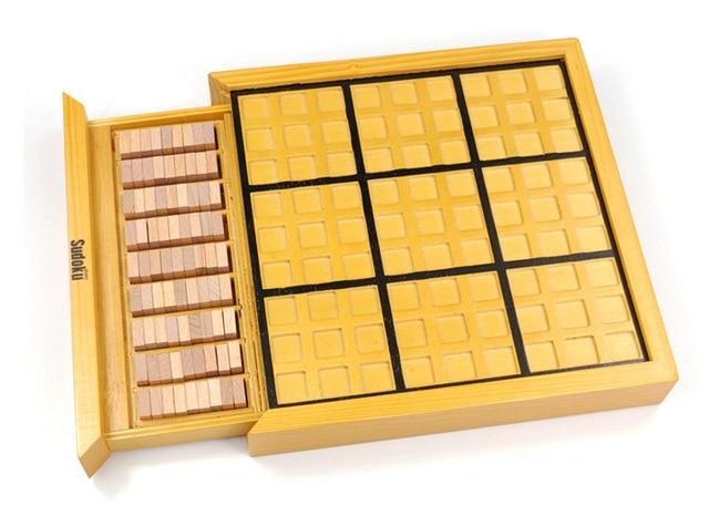 Детские игрушки и для взрослых логическое мышление головоломки судоку деревянные игрушки