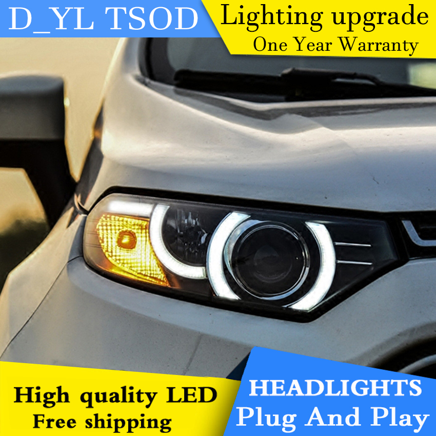 Car Styling Headlights for Ford Ecosport 2013 2015 LED Headlight for Ecosport Head Lamp LED Daytime