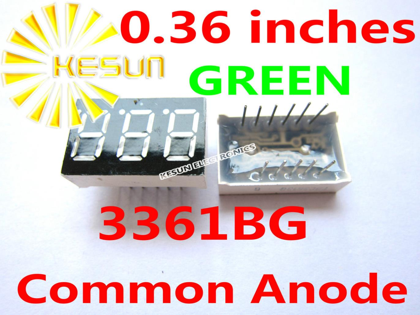 FREE SHIPPING 20PCS X 0.36 Inches Green Blue Red 3 Digital Tube LED Display Module 3361AS 3361BS 3361AG 3361BG 3361AB 3361BB