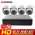 4CH CCTV Sistema 1080N AHD DVR HDMI DVR 4 UNIDS 720 P 1200TVL IR Cúpula AHD AHD Cámara Home Seguridad Sistema de Vigilancia Kits