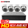 4CH Sistema de CCTV AHD DVR 1080N HDMI DVR 4 PCS 720 P 1200TVL IR Dome AHD AHD Câmera Em Casa Sistema de Segurança de Vigilância Kits