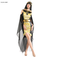 Sexy Woman Halloween Egyptian Pharaoh Queen Cleopatra Costumes Female Goddess Cosplays Carnival Purim Masquerade Bar party dress