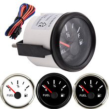 2 52mm Waterproof 12V Car Boat Fuel Level Gauge Black Face Car Meter E-1/2-F Fuel level indicator Red Pointer FOR motorcycle f pilkington alas fair face