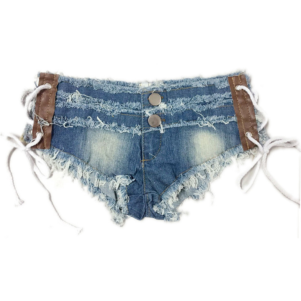 Ultrashort Hair Edge Side Opening Hollow Out Frenulum Nightclub Mom Jeans Woman Befree Shorts Women Jeans Short Feminino Modis