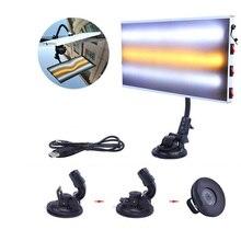 LED אור 3 StripCar גוף מנורת לוח עבור שקע לא צבוע תיקון ברד ערכת ההסרה
