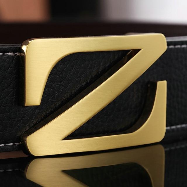 Lo nuevo 2016 moda cinturones de diseño hombres de alta calidad de cuero de vaca la hebilla automática hombres cinturón , estilo , carta cinturones de lujo para hombre