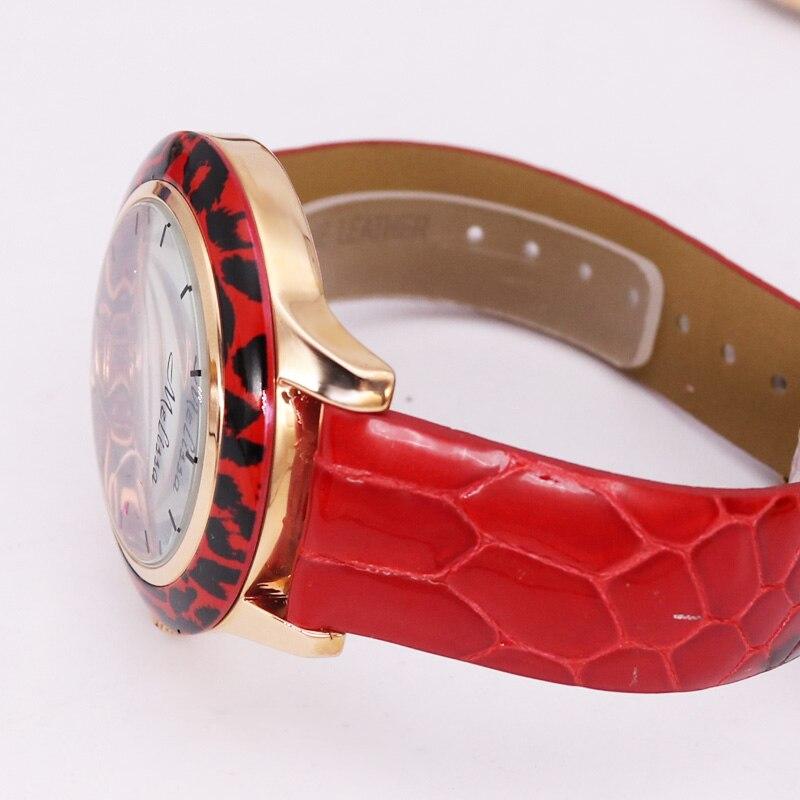 Patrón de pitón colorido señora reloj de mujer Japón cuarzo horas moda diamantes de imitación cuero cristal chica cumpleaños regalo caja - 5