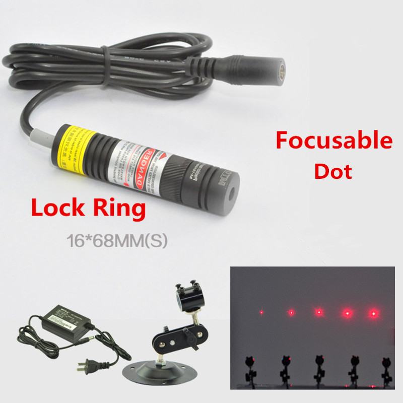 Focusable With Lock Ring 650nm 10mw 50mw 100mw 150mw 200mw Laser Dot Module For Clothes Cutting / Wood Cutting Mechanical
