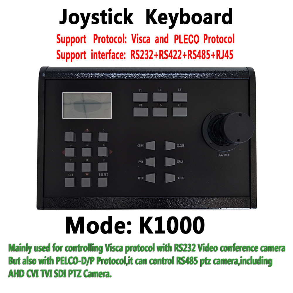 RS232 Visca hd Sony conference Camera controller 3D Joystick Keyboard PELCO protocol control for CCTV PTZ AHD SDI TVI CVI Camera top dvi usb3 0 3 3mp ptz video conference camera hd 1 2 8 cmos 20x zoom visca pelco for professional education training system