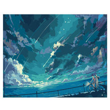 WEEN Beautiful sky-DIY Painting By Numbers kit for adults&kids, Hand-painted Oil Paint Number On Canvas,Wall picture 40x50cm