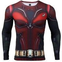 Robin 3D Printed T Shirts Men Compression Shirt 2017 Batman Cosplay Long Sleeve Tops Male Crossfit