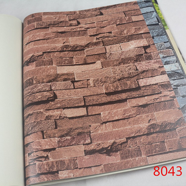 Compare prices on grey brick wallpaper online shopping for Black 3d brick wallpaper