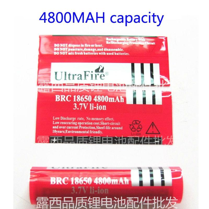 50 pçs/lote 18650 bateria manga pele de calor filme de PVC encolhível calor manga retráctil 4800 MAH capacidade película de psiquiatra