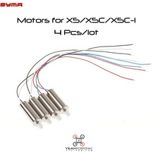 New 4PCS/lot Syma X5 X5C Motor A&B RC Helicopter Quad copter Spare Parts Motor X5C Replacements Accessories Syma Originals