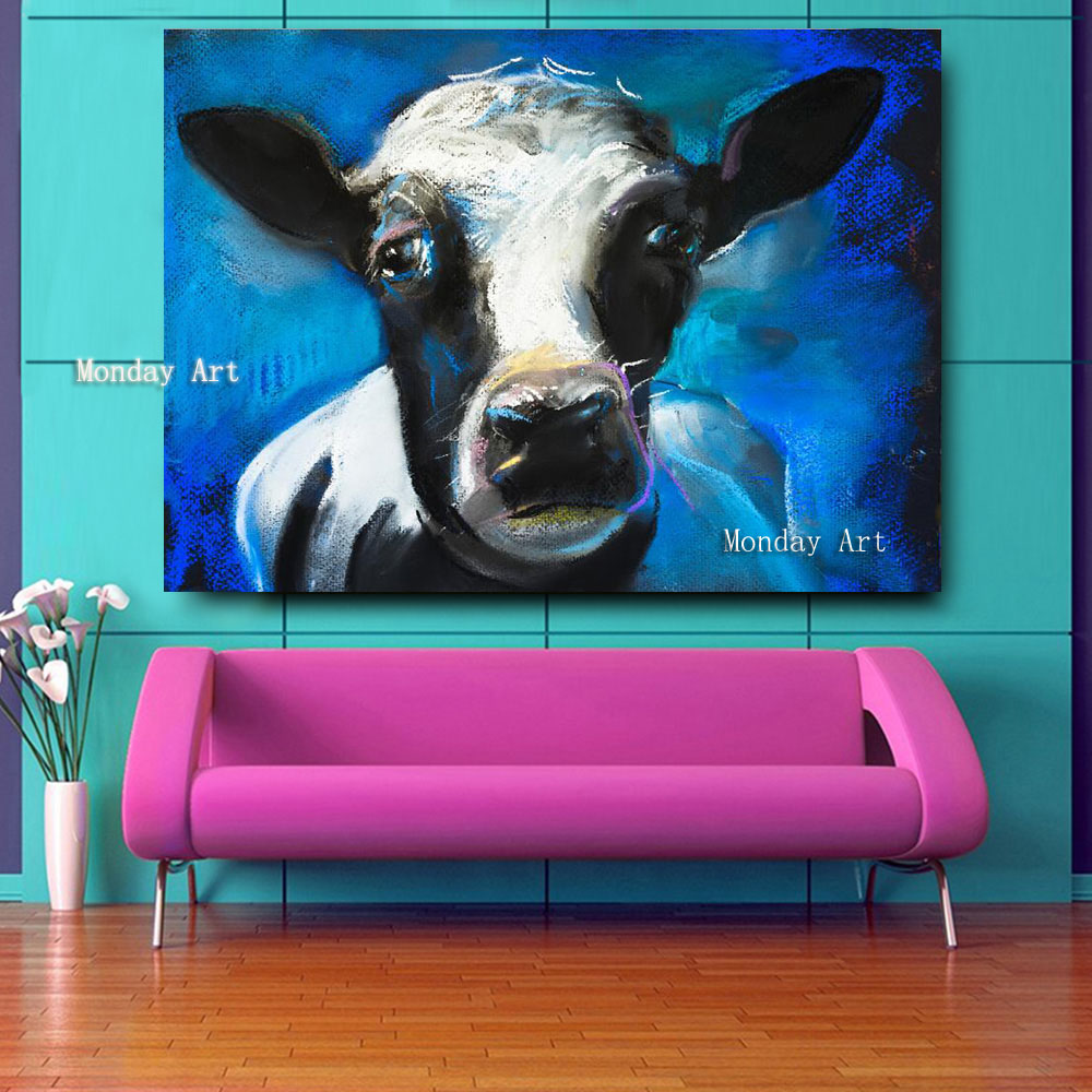 Embelish-1-Pieces-Lovely-Cow-Face-HD-Print-Canvas-Oil-Waterproof-Painting-For-Living-Room-Large (3)