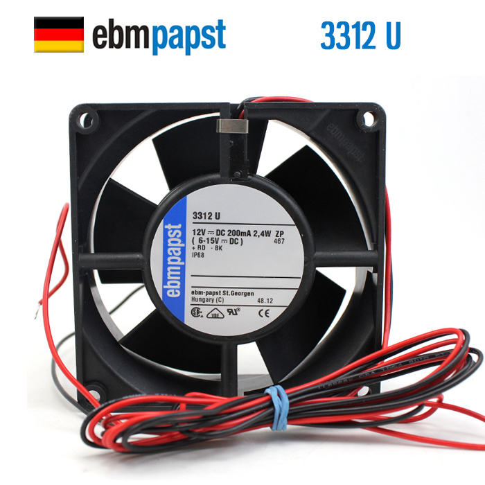 Ebmpapst 9232 Can Run In Water DC 12V 0.2A IP68 3312U Waterproof Axial Fan