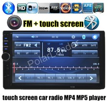 """2 Din Car Radio MP5 MP4 Player 7"""" inch HD Touch Screen Bluetooth Stereo AUX/FM/USB/TF Electronics video audio reverse priority"""