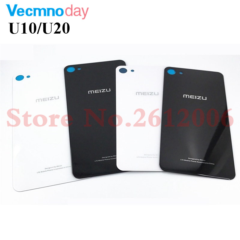 Original 3D Glass Back Housing For MEIZU U10 U20 Back Cover Case Battery Rear Door With Adhesive Sticker Replacement Parts